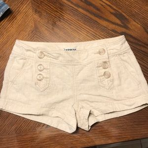 Express Linen And Cotton Shorts
